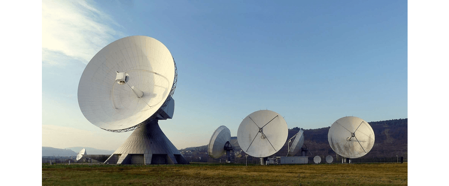 Satellite Farm with Antennas