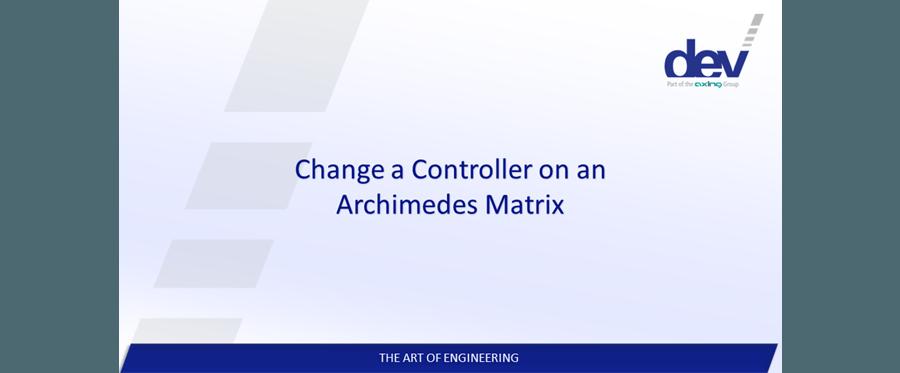 Change a Controller on a DEV Archimedes RF Matrix Switch