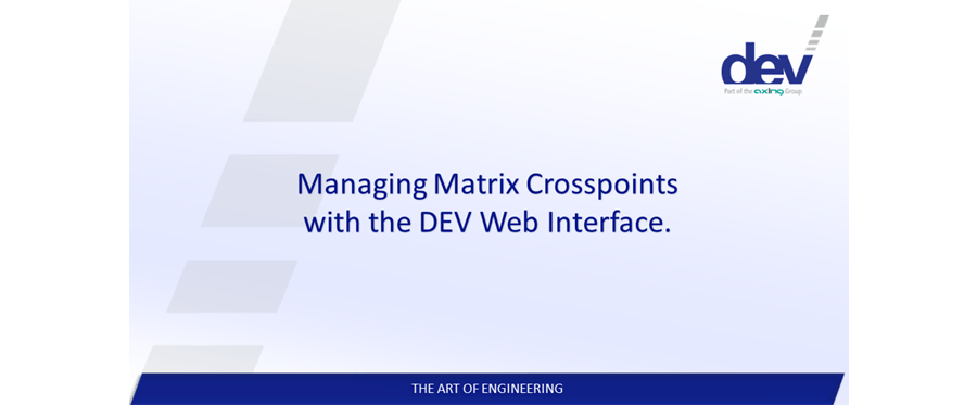 Managing Matrix Crosspoints